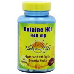 Nature's Life Betaine HCl 648 mg