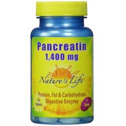 Nature's Life Pancreatin 1,400 mg