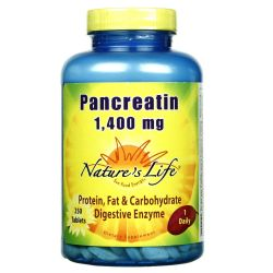 Nature's Life Pancreatin 1-400 mg