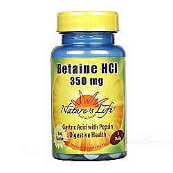 Nature's Life Betaine HCl 350 mg
