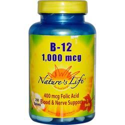 Nature's Life B-12 1-000 mcg
