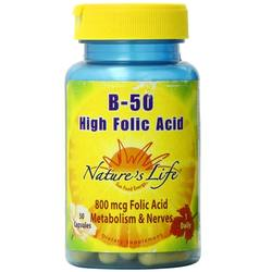 Nature's Life B-50 High Folic Acid