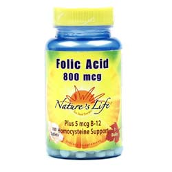 Nature's Life Folic Acid 800 mcg