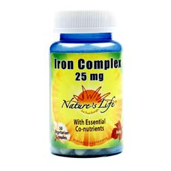 Nature's Life Iron Complex 25 mg