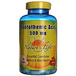 Nature's Life Pantothenic Acid 500 mg