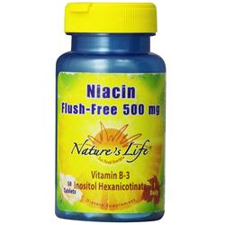 Nature's Life Niacin Flush-Free 500 mg