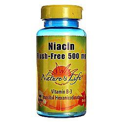 Nature's Life Niacin Flush-Free 500 mg