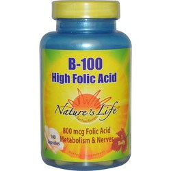 Nature's Life B-100 High Folic Acid 800 mcg