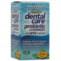 Nature's Plus Adult's Dental Care Probiotic Lozenges
