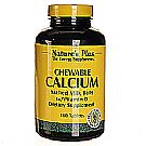 Nature's Plus Chewable Calcium Malted Milk Balls w/ Vitamin D 1000 mg