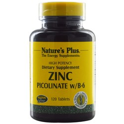 Nature's Plus Zinc Picolinate w B6