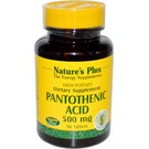Nature's Plus Pantothenic Acid 500 mg