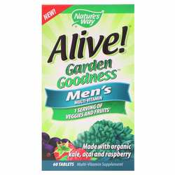 Nature's Way Alive! Garden Goodness Men's Multivitamin- Veggie  Fruit Blend