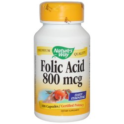Nature's Way Folic Acid 800 mcg