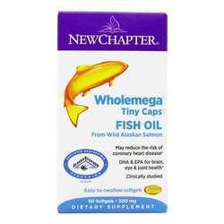 New Chapter Wholemega Tiny Caps Fish Oil