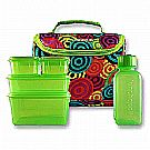 New Wave Enviro Lunchopolis Lunch Box Circles/Green
