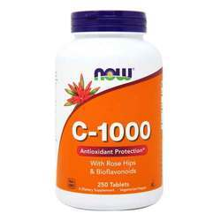 Now Foods C-1000 1,000 mg with Rose Hips and Bioflavonoids