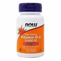 Now Foods Vitamin D-3 5000 IU High Potency
