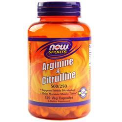 Now Foods Arginine and Citrulline 500250 mg