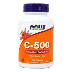 Now Foods C-500 Vitamin C 500 mg with Rose Hips