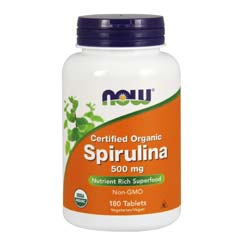 Now Foods Organic Spirulina 500 mg