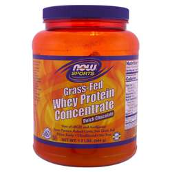 Now Foods Grass-Fed Whey Protein Concentrate - Dutch Chocolate
