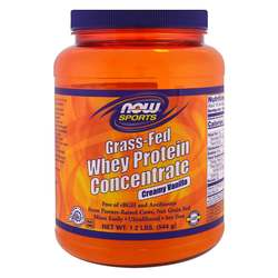 Now Foods Grass-Fed Whey Protein Concentrate - Creamy Vanilla