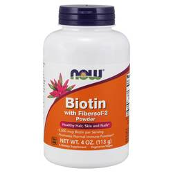 Now Foods Biotin with Fibersol 2 Powder