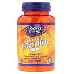 Now Foods L-Citrulline Sustained Release 750 mg