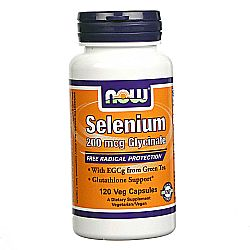 Now Foods Selenium 200 mg Glycinate