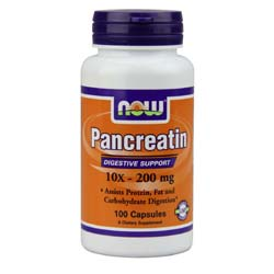 Now Foods Pancreatin 10x - 200 mg