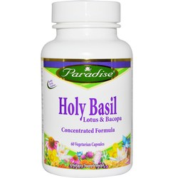 Paradise Herbs Holy Basil- Lotus  Bacopa Extract