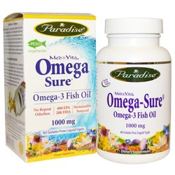 Paradise Herbs Omega Sure Fish Oil