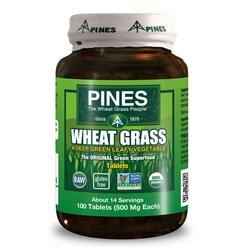 Pines International Organic Wheat Grass 500 mg