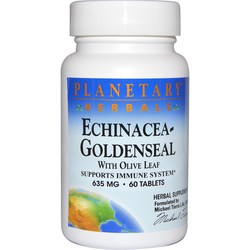 Planetary Herbals Echinacea Goldenseal with Olive Leaf 635 mg