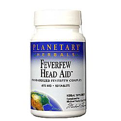 Planetary Herbals Feverfew Head Aid 615 mg