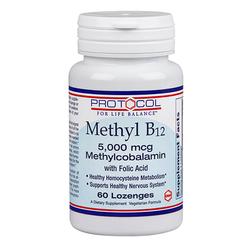 Protocol for Life Balance Methyl B12 5-000 mcg with Folic Acid