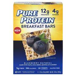 Pure Protein Breakfast Bars Blueberry Oatmeal