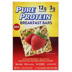 Pure Protein Breakfast Bars Strawberry Waffle