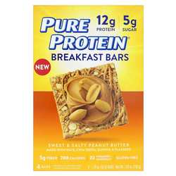 Pure Protein Breakfast Bars Sweet  Salty Peanut Butter