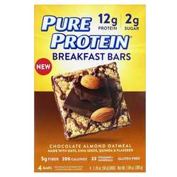 Pure Protein Breakfast Bars Chocolate Almond Oatmeal