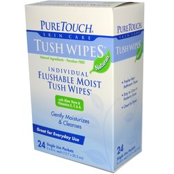 Puretouch Skin Care Flushable Moist Tush Wipes