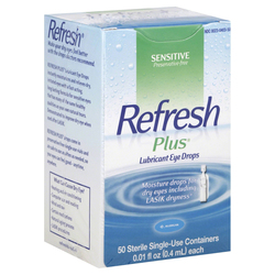 Refresh Plus Lubricant Single-Use Eye Drops
