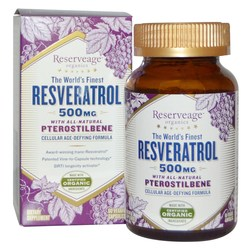 Reserveage Organics Resveratrol With All-Natural Pterostilbene
