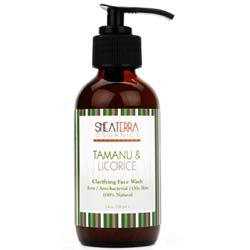 Shea Terra Organics Tamanu and Licorice Clarifying Facial Wash