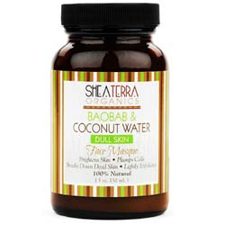 Shea Terra Organics Baobab and Coconut Water Dull Skin Face Masque