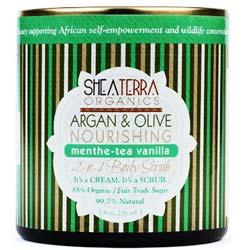 Shea Terra Organics Argan and Olive 2-in-1 Body Scrub