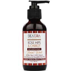 Shea Terra Organics Rose Hips and Carrot Facial Wash