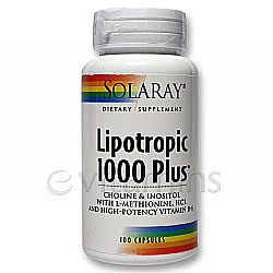 Solaray Lipotropic 1000 Plus