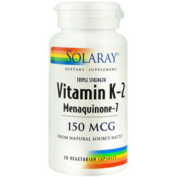 Solaray Triple Strength Vitamin K-2 Menaquinone-7